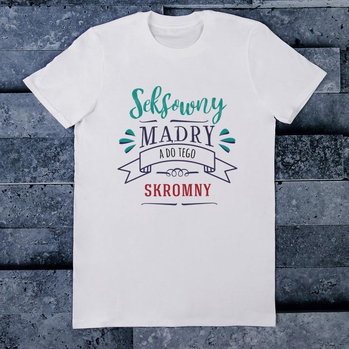 Skromny - Koszulka męska z nadrukiem
