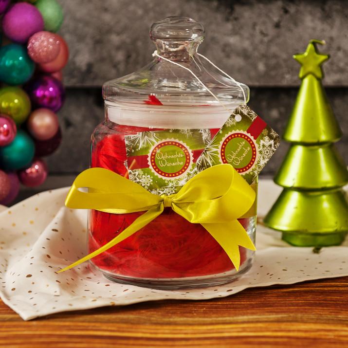 Wunschglas: Weihnachtswünsche