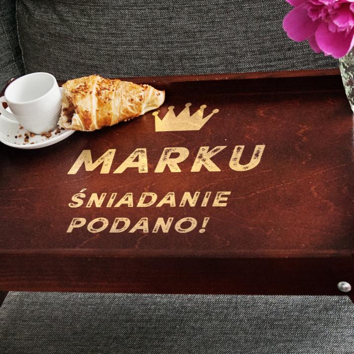 śniadanie Podano Taca śniadaniowa