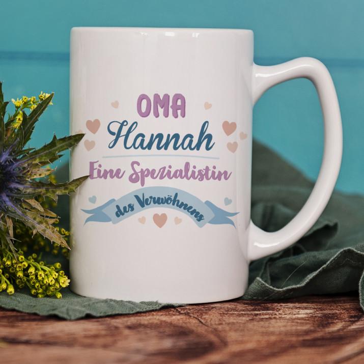 Spezialistin des Verwöhnens - personalisierte Tasse