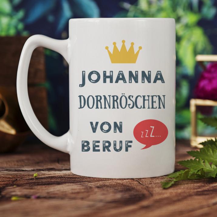 Dornröschen - Personalisierte Tasse