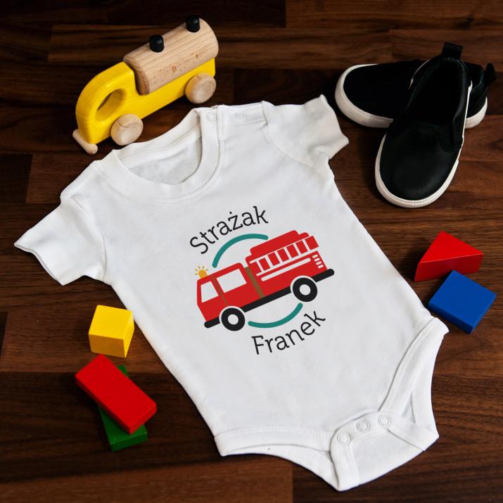 Strażak - body niemowlęce