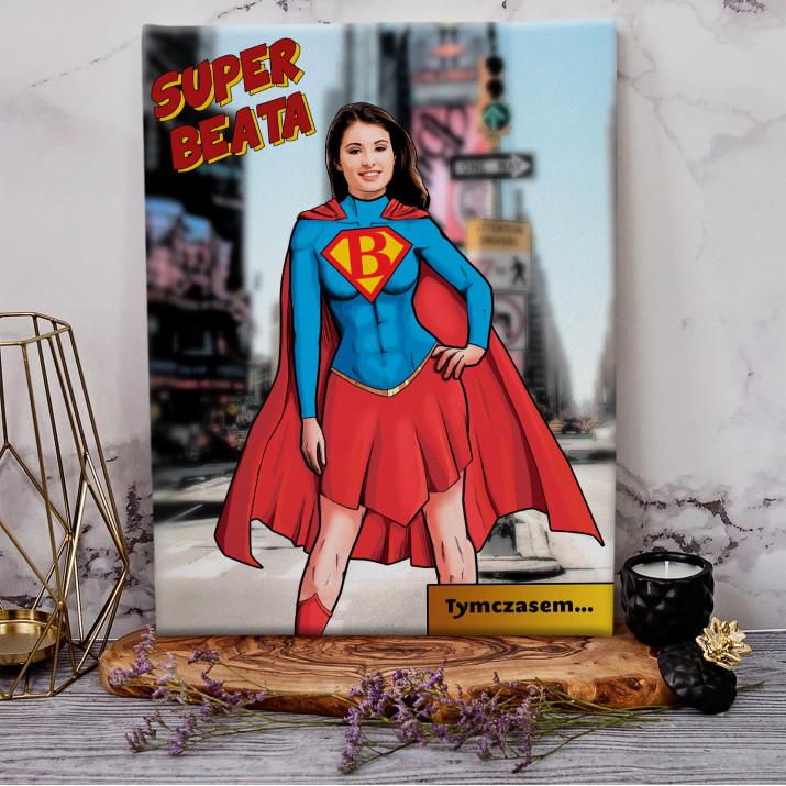 Super Kobieta - obraz na płótnie