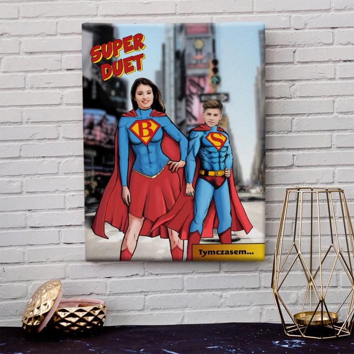 Super Mama i Syn - obraz na płótnie