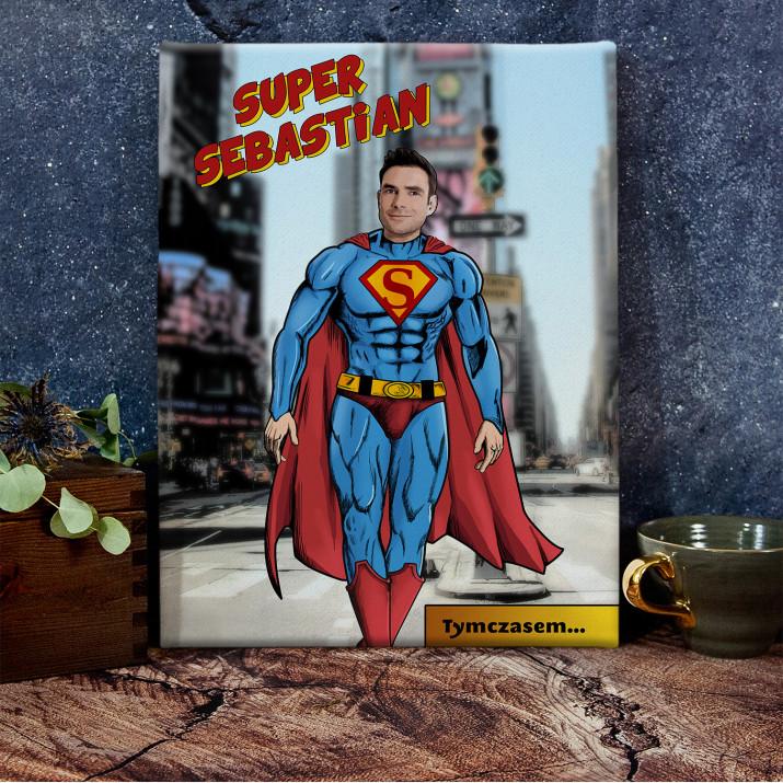 Super Mężczyzna - obraz na płótnie