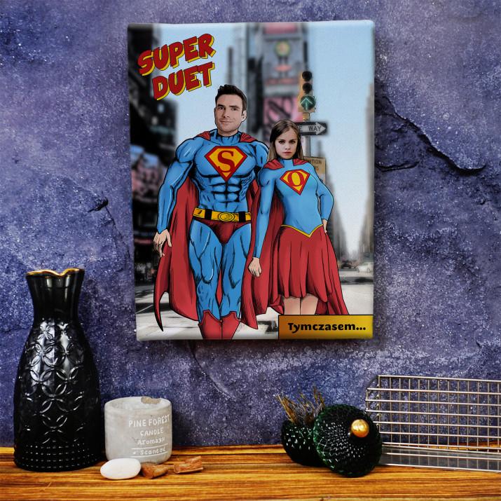 Super Tata i Córka - obraz na płótnie
