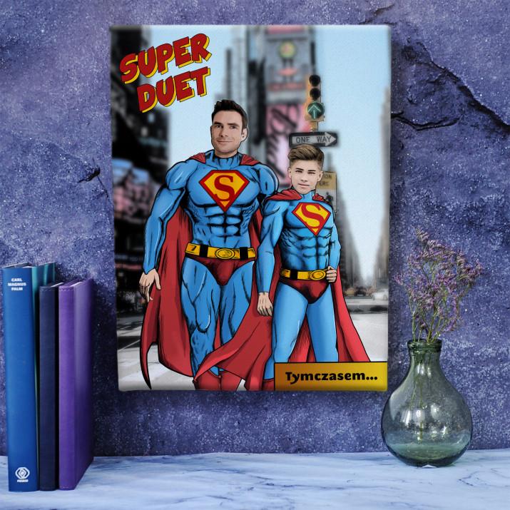 Super Tata i Syn - obraz na płótnie