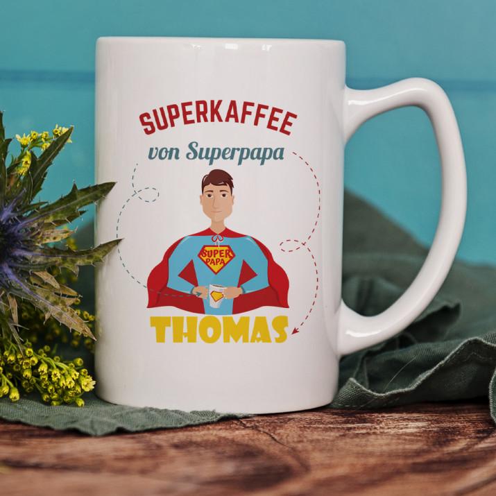 Superpapa - Personalisierte Tasse
