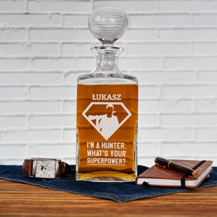 Superpower - grawerowana karafka do whisky