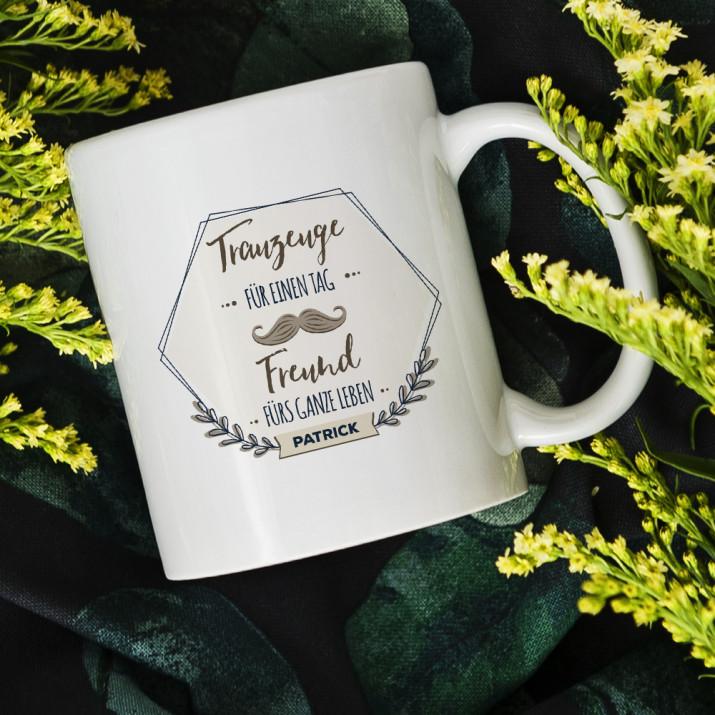 Trauzeuge für einen Tag - personalisierte Tasse