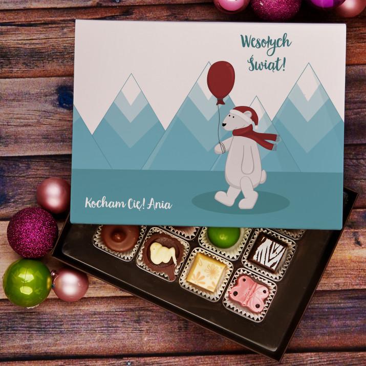 Świąteczny miś - Praliny z belgijskiej czekolady