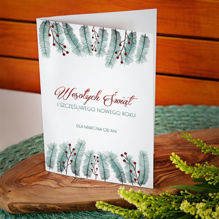 Świąteczny Stroik - kartka z życzeniami