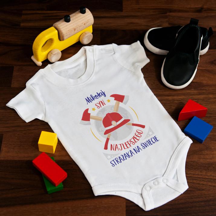 Syn najlepszego strażaka - body niemowlęce