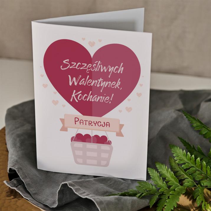 Szczęśliwych walentynek - kartka z życzeniami