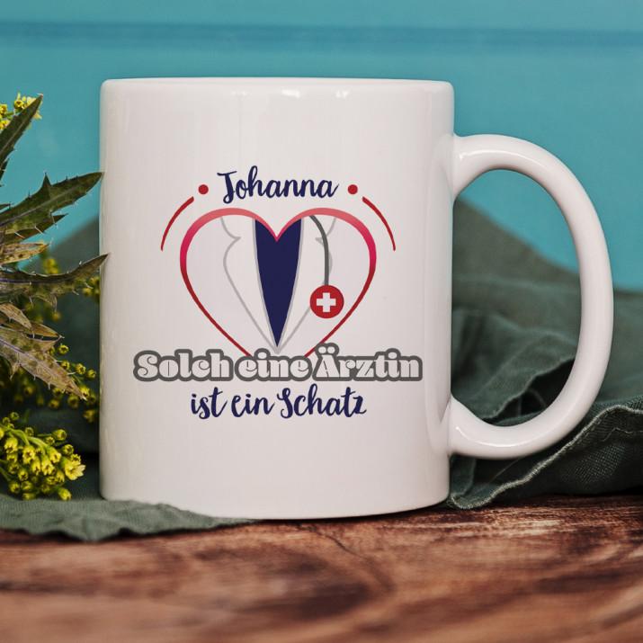 Solch eine Ärztin - personalisierte Tasse