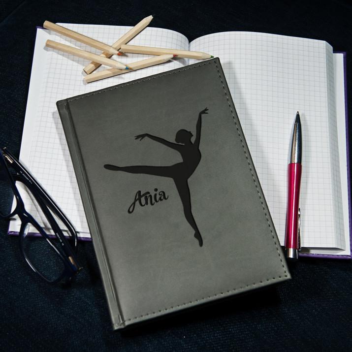 Tancerka - notatnik grawerowany A5