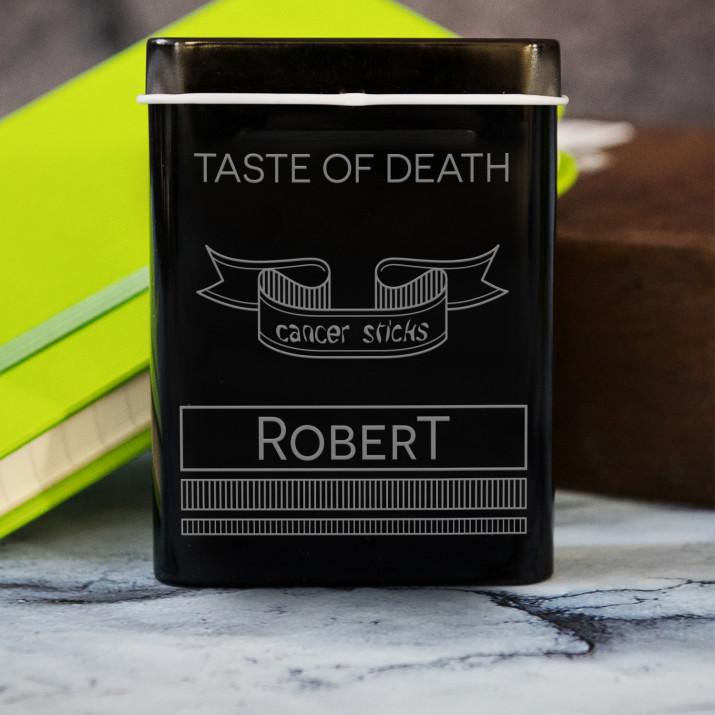 Taste of death - etui na papierosy z grawerem
