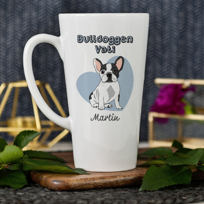 Bulldoggen-Vati - personalisierte Tasse
