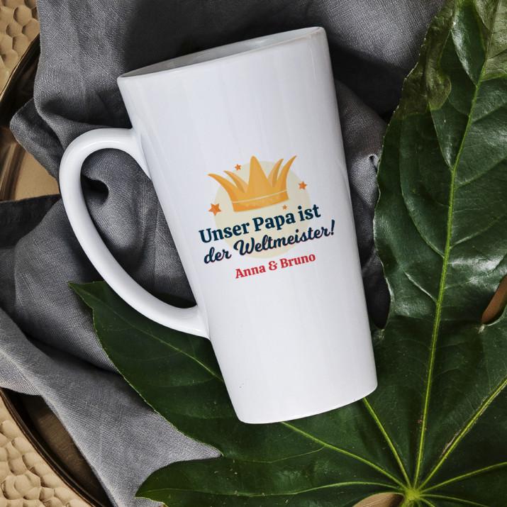 Papa Weltmeister - personalisierte Tasse
