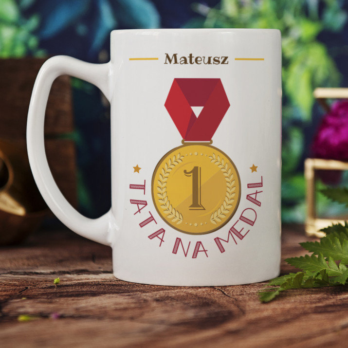 Tata na medal - Personalizowany Kubek