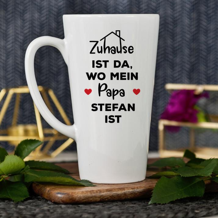 Papa zu Hause - Personalisierte Tasse
