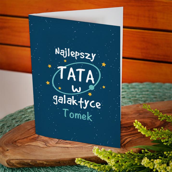 Tata w galaktyce - kartka z życzeniami