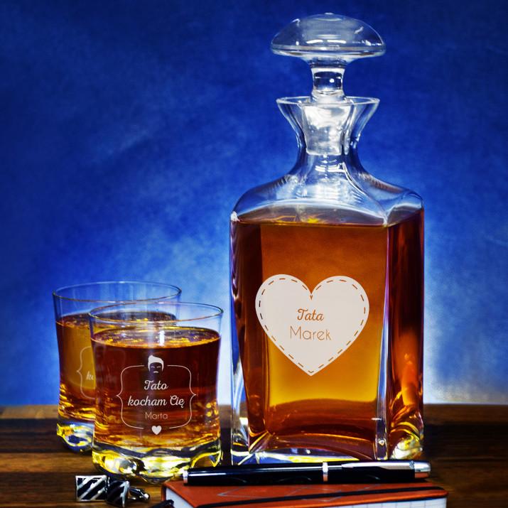 Tata - Zestaw Grawerowana Karafka I Szklanki Do Whisky