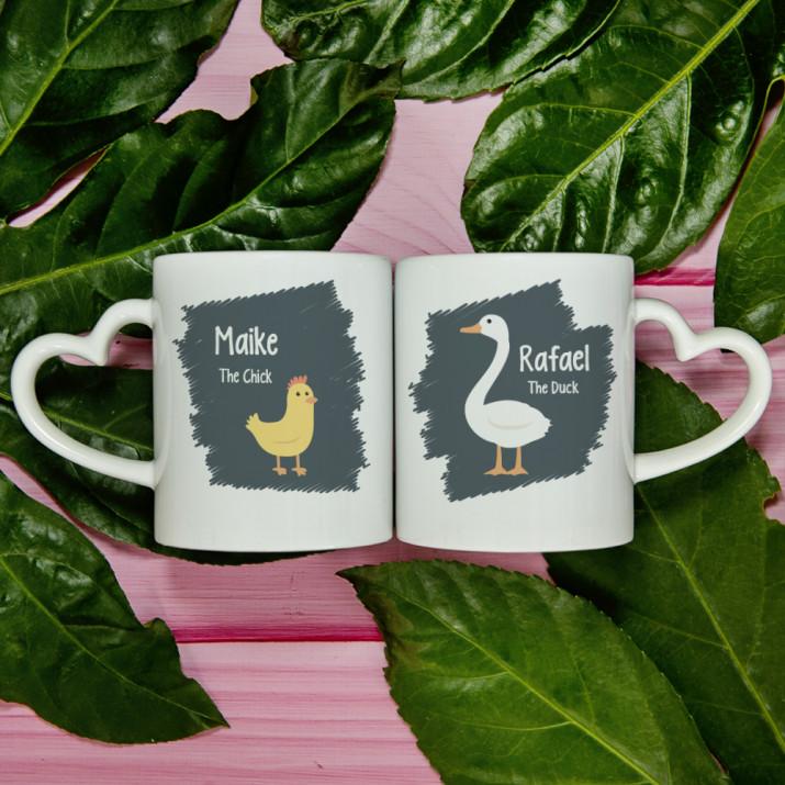 The Chick/The Duck - Tassen für Paare