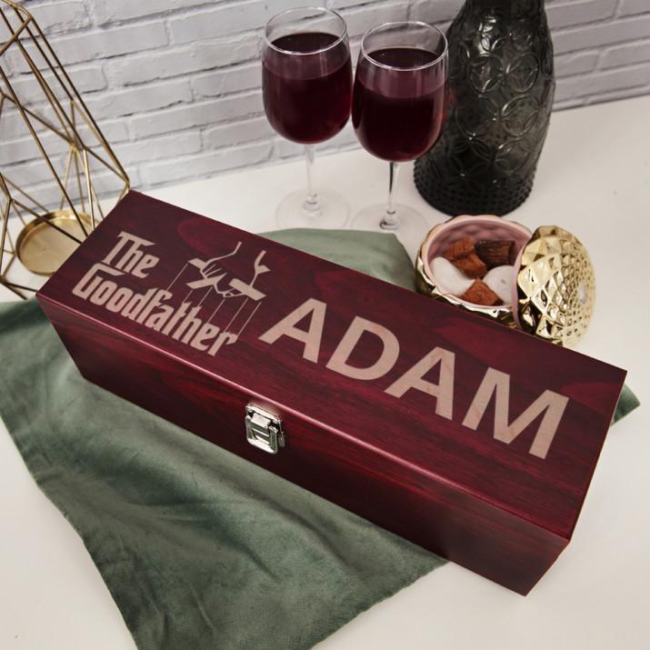 The Goodfather - Skrzynka na wino z akcesoriami