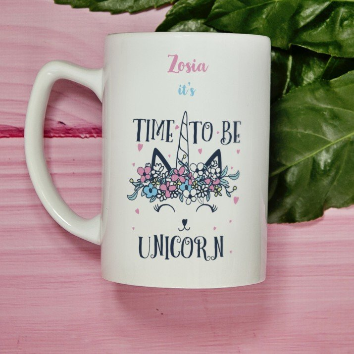 Time to be unicorn - Personalizowany Kubek