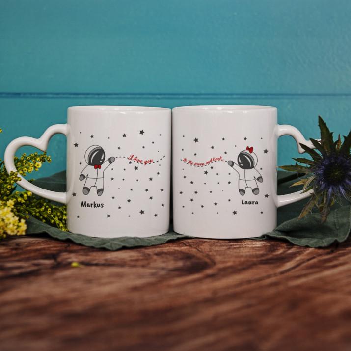 To The Moon And Back - Tassen für Paare
