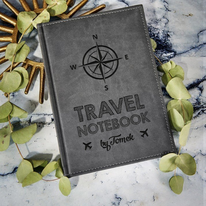 Travel Notebook - notatnik grawerowany A5