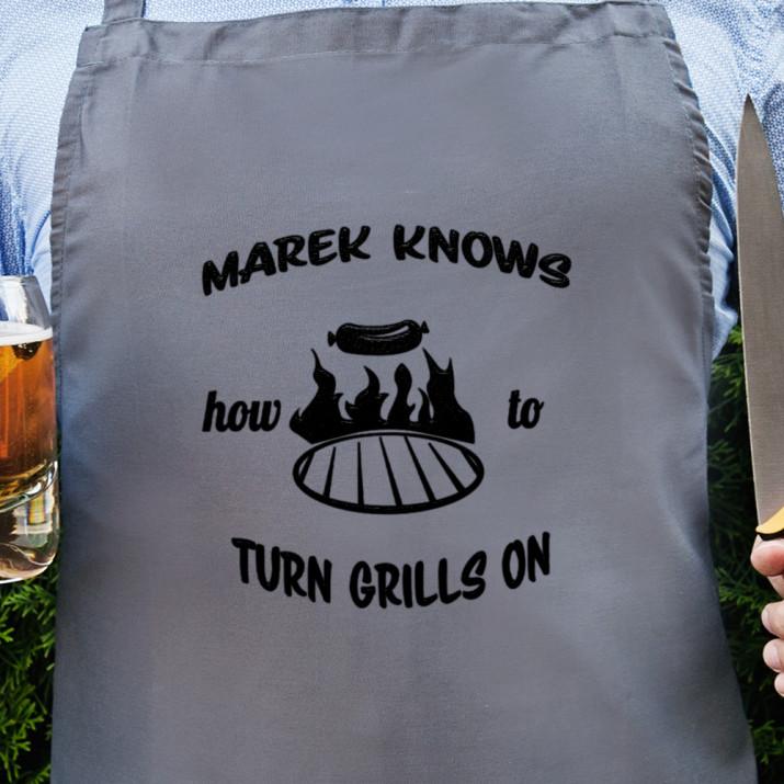 Turn Grills on - Fartuch kuchenny