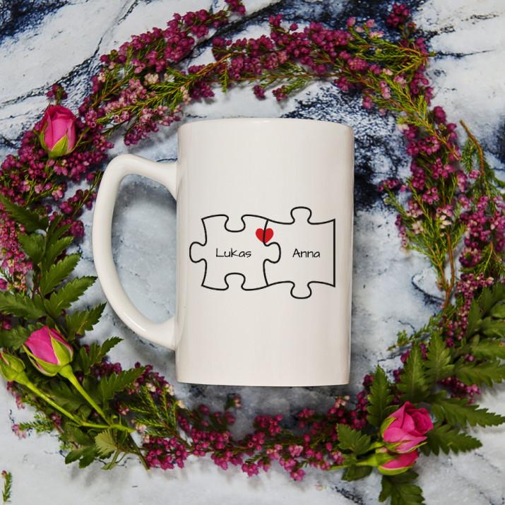 Du und Ich - Personalisierte Tasse