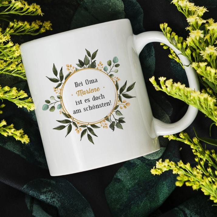 Bei Oma - personalisierte Tasse