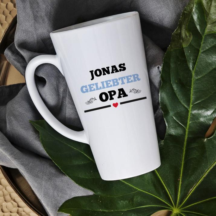 Geliebter Opa - Personalisierte Tasse