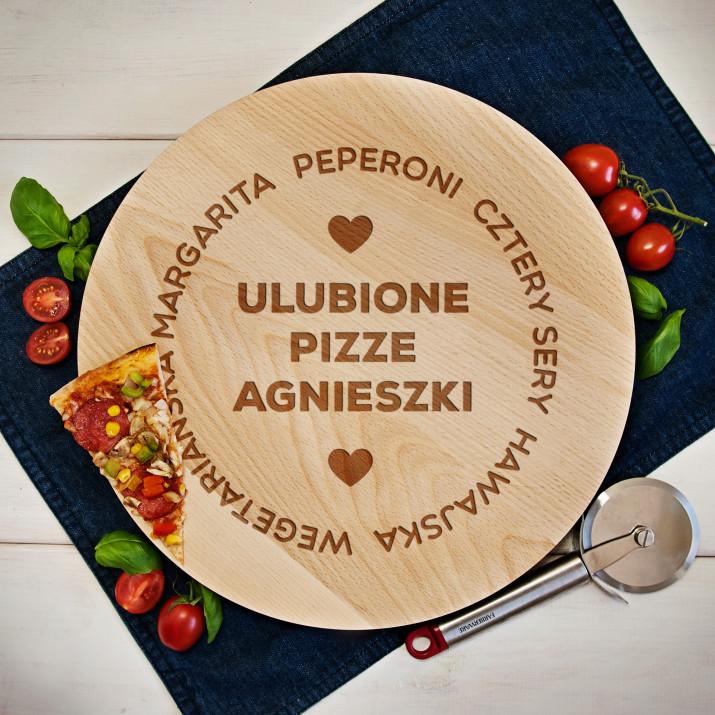 Ulubione pizze - Deska obrotowa