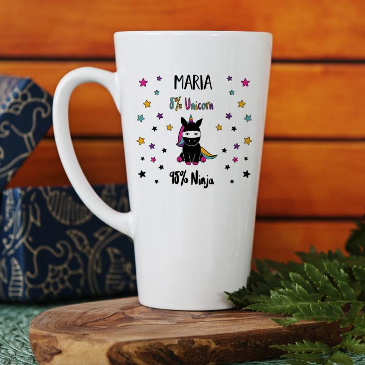 Unicorn ninja - personalisierte Tasse