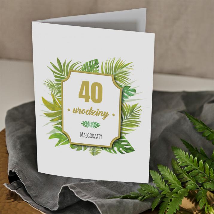 Urodziny paproć - kartka z życzeniami