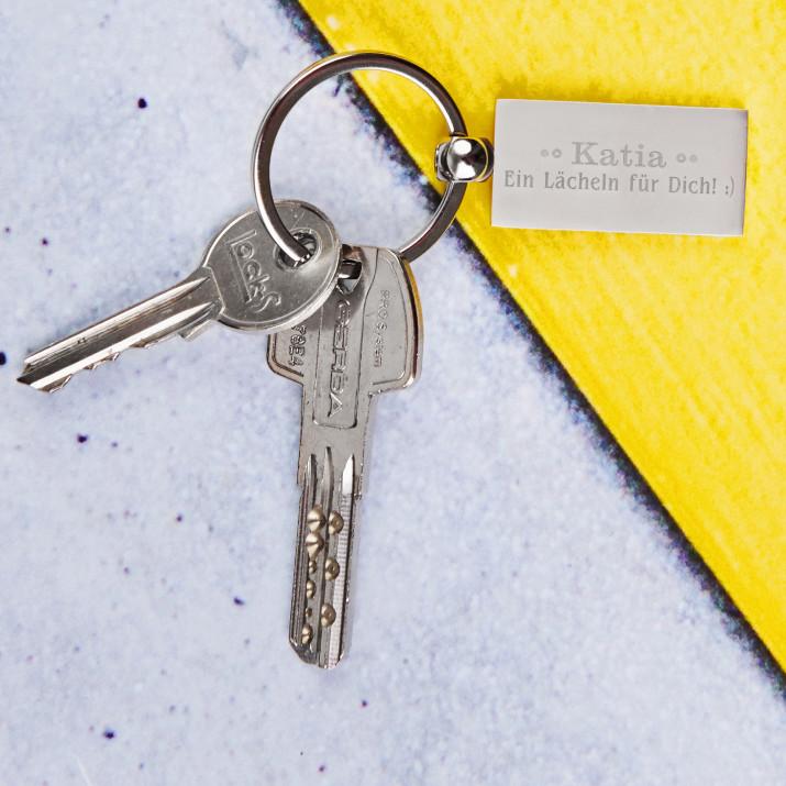 Lächle - Schlüsselanhänger
