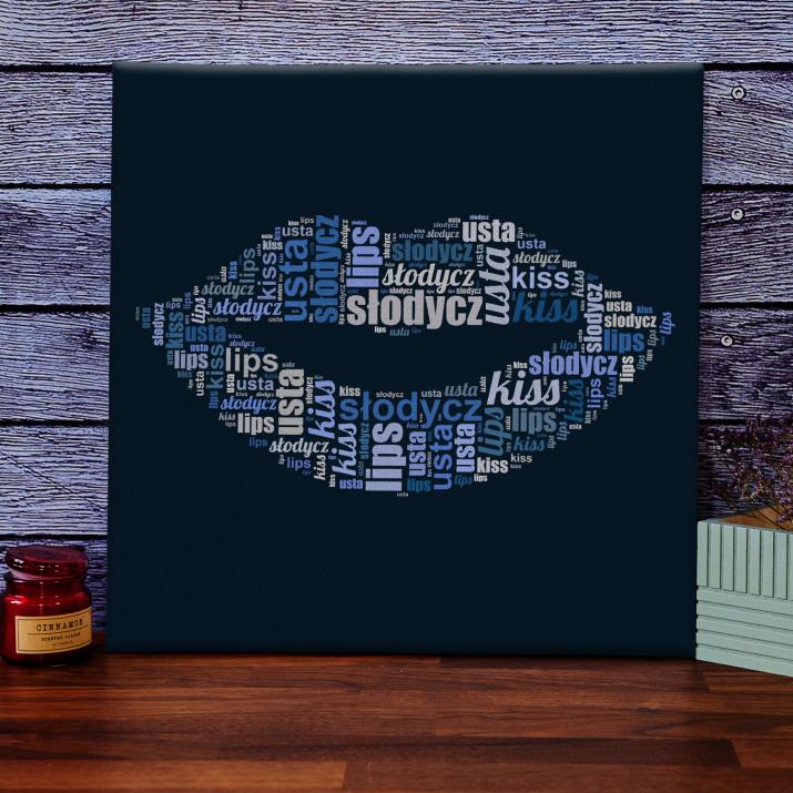 Usta - obraz z Twoich słów