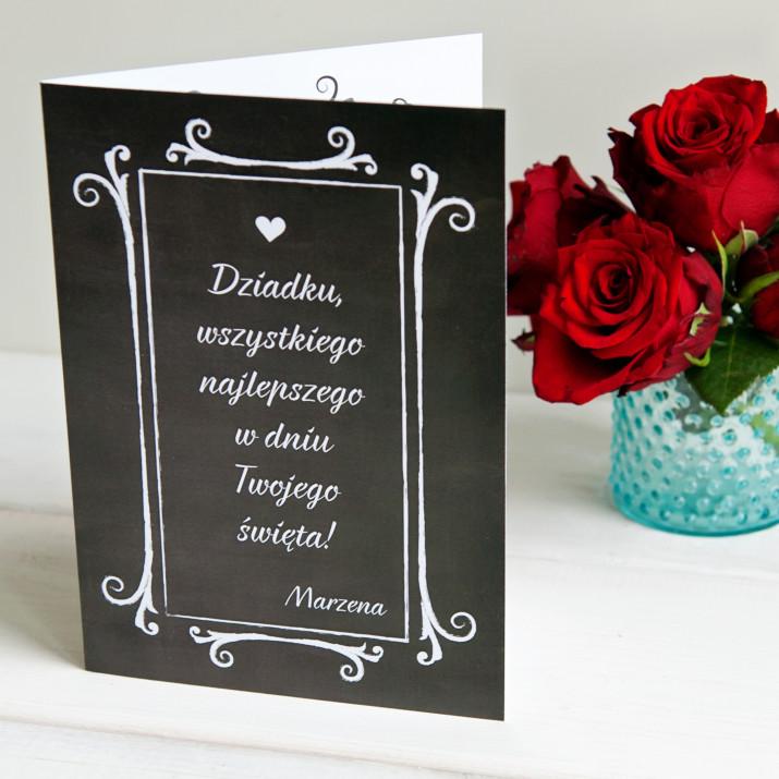 W dniu Twojego święta - kartka z życzeniami