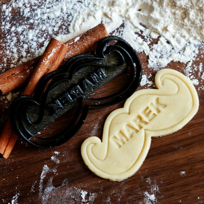 Wąsy - personalizowana foremka 3D do ciastek