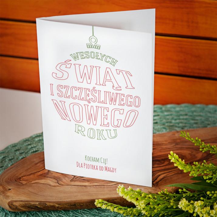 Wesołych i Szczęśliwego - kartka z życzeniami