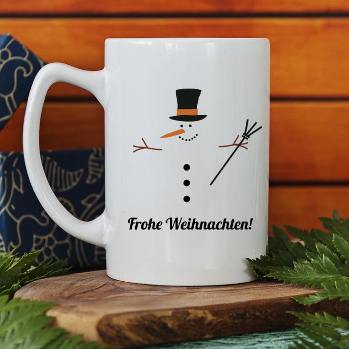 Frohe Weihnachten Schneemann - Becher