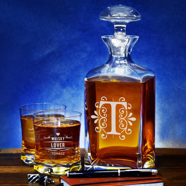 Whisky Lover - Zestaw Grawerowana Karafka I Szklanki Do Whisky