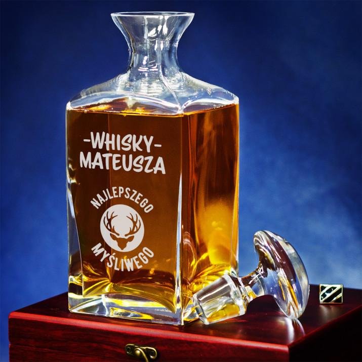 Whisky najlepszego myśliwego - grawerowana karafka