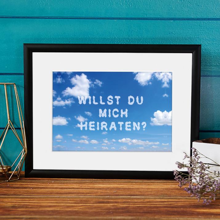 Nachricht von Wolken - Kunstdruck