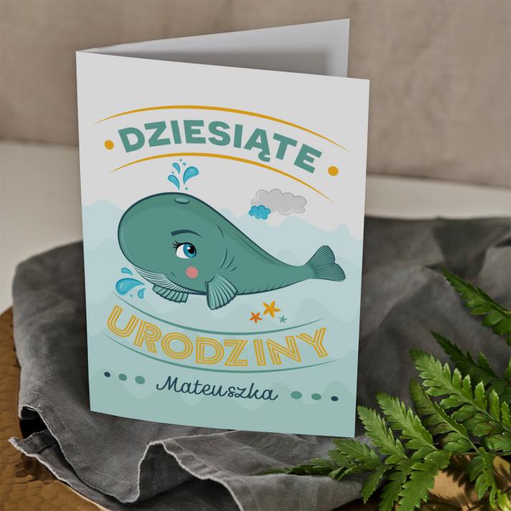 Wieloryb - kartka z życzeniami