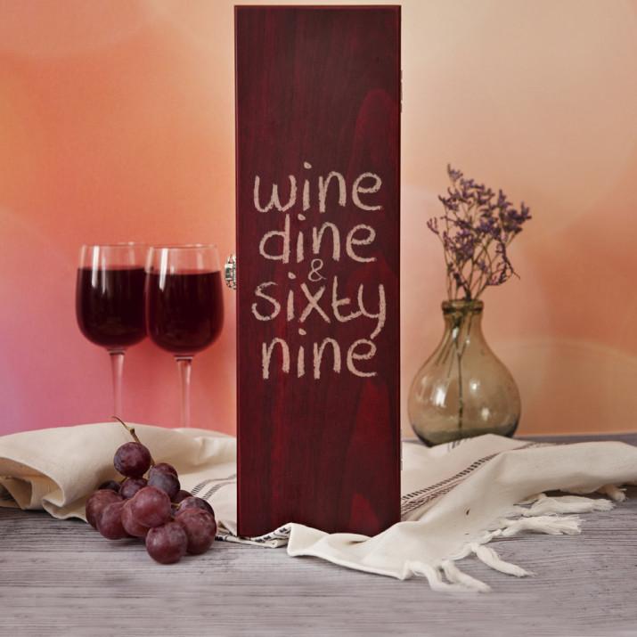 Wine, dine & sixty nine - Skrzynka na wino z akcesoriami